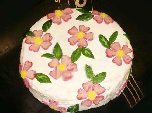 تزیین کیک مرغ مجلسی