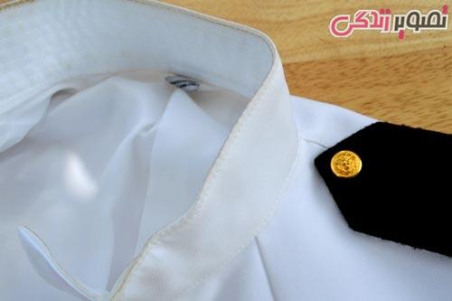 پاک کردن چرک یقه پیراهن مردانه
