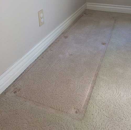 روش از بین بردن جای مبلمان از روی موکت و فرش