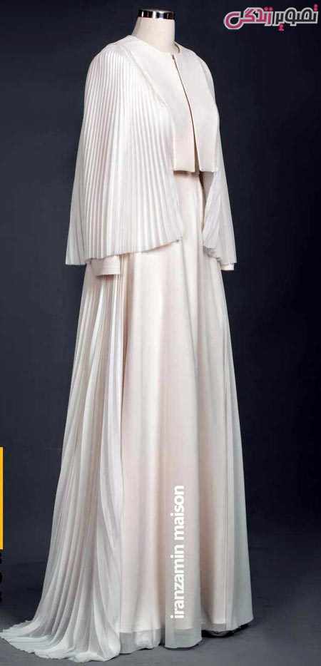 مدل مانتو بلند شنل دار مجلسی