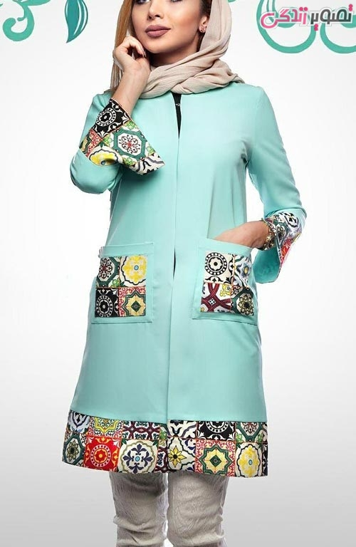 مدل مانتو عید دخترانه بهاری