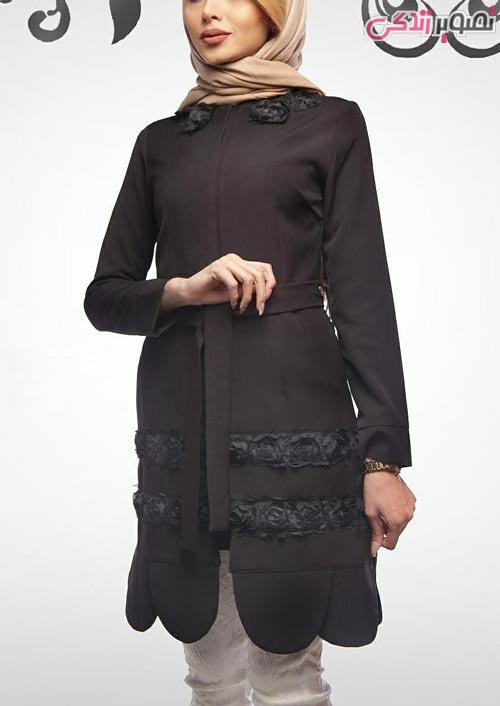 مدل مانتو عید دخترانه مشکی