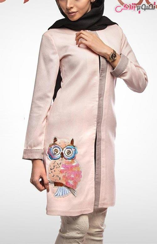 مدل مانتو عید دخترانه صورتی ملایم