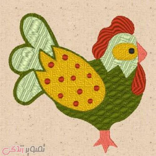 طرح فانتزی عروسک برای نقاشی طرح تکه دوزی خروس برای قاب ، دوخت کوسن و لحاف و سرویس ...