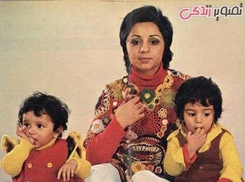 عکس سیما بینا و بچه هایش