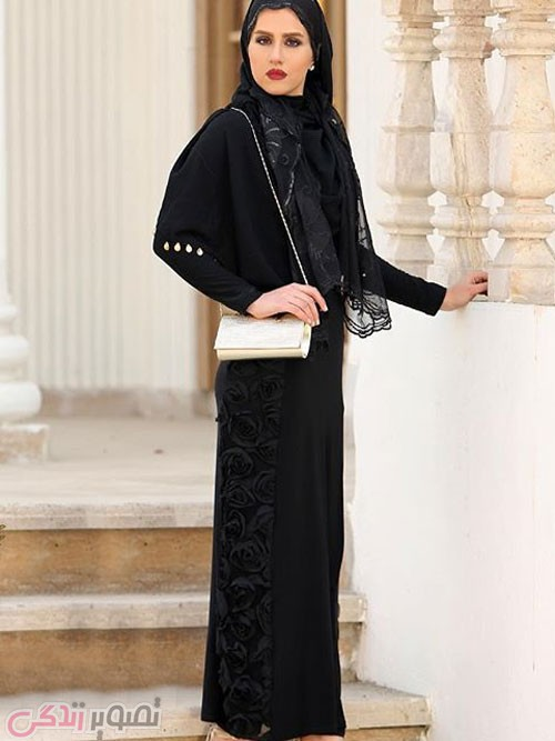 مدل مانتو مجلسی 2017 پوشیده