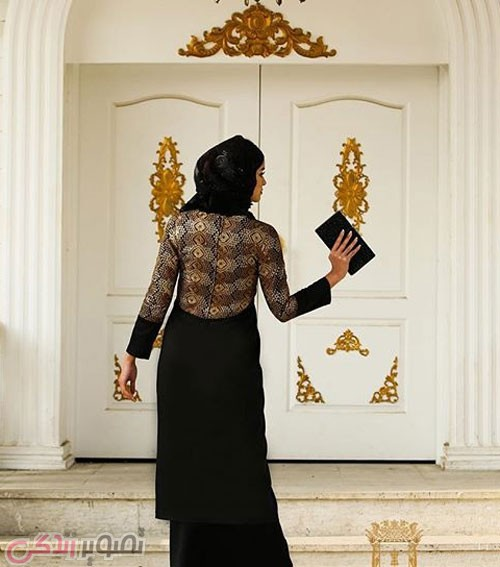 مدل مانتو مجلسی عید 96 پوشیده