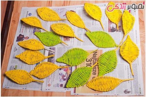 آموزش ساخت سبد گل آفتابگردان با روزنامه