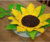 ساخت ظرف هفت سین گل آفتابگردان
