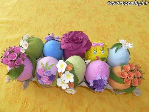 مدل چیدن تخم مرغ سفره هفت سین