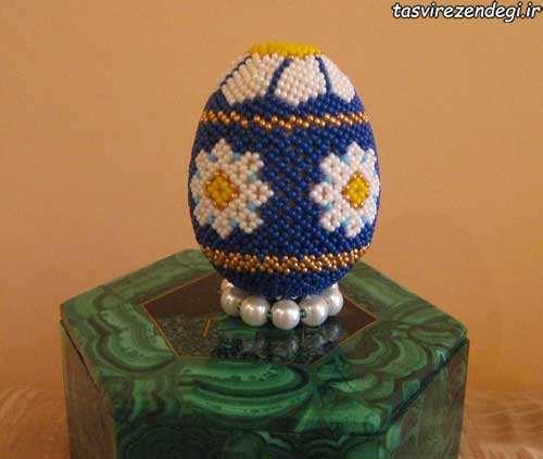 تزیین تخم مرغ با منجوق و مهره