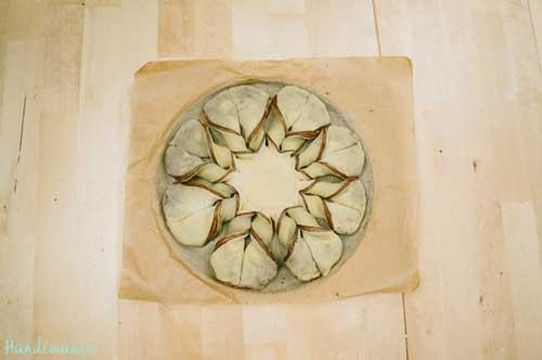 طرز تهیه نان ستاره ای نوتلا