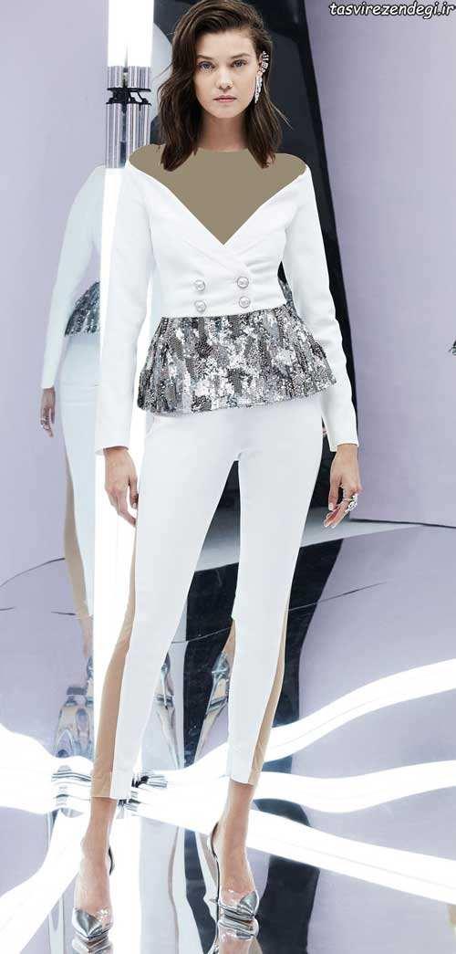 مدل لباس مجلسی سفید, بلوز شلوار مجلسی