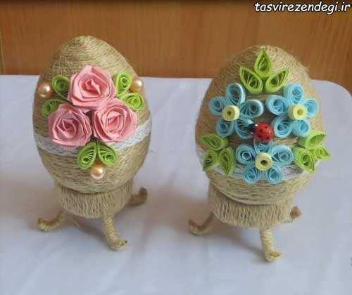 آموزش ساخت تخم مرغ تزیین شده