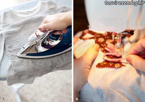 آموزش تکه دوزی , تزیین لباس بچه