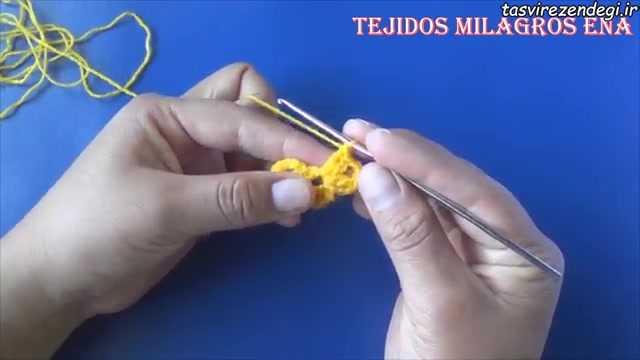 آموزش بافت اشارپ مدل طاوسی