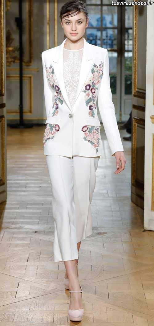 مدل کت و شلوار سفید مجلسی