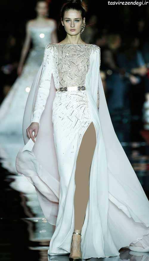 مدل لباس مجلسی سفید, پیراهن یلند مجلسی