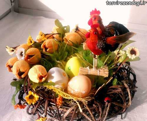 تزیین تخم مرغ سال خروس