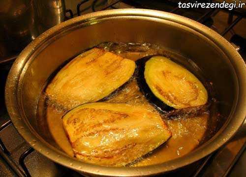 روش سرخ کردن بادمجان,طرز تهیه بادمجان سرخ شده