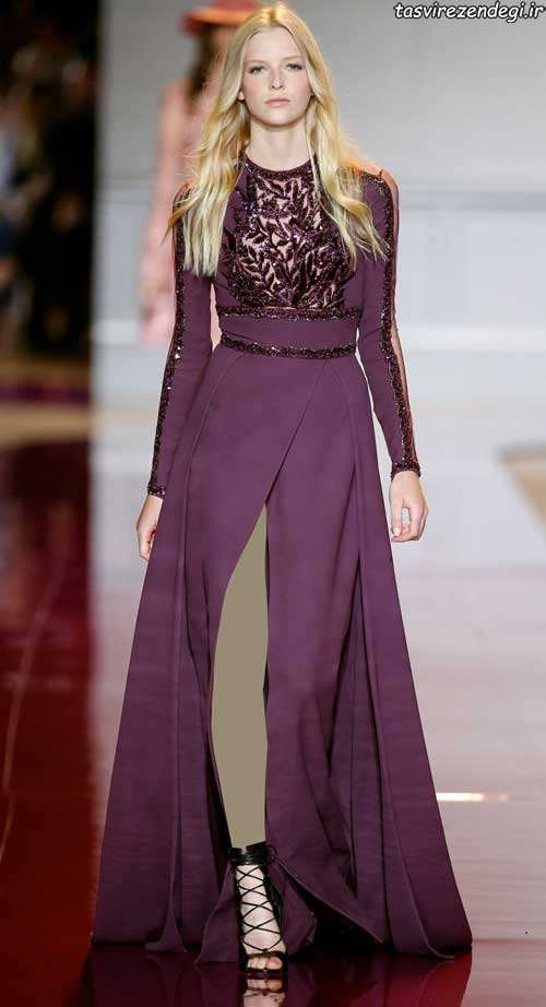 مدل لباس مجلسی بلند , لباس شب شیک