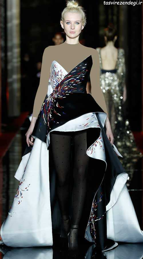 مدل لباس مجلسی دنباله دار , مدل لباس نامزدی