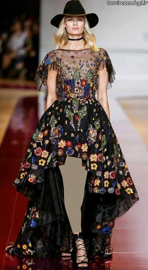 جدیدترین مدل لباس شب دنباله دار