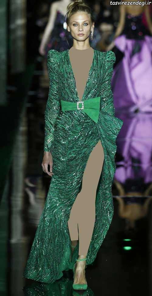 جدیدترین مدل لباس شب رنگ سال 2017