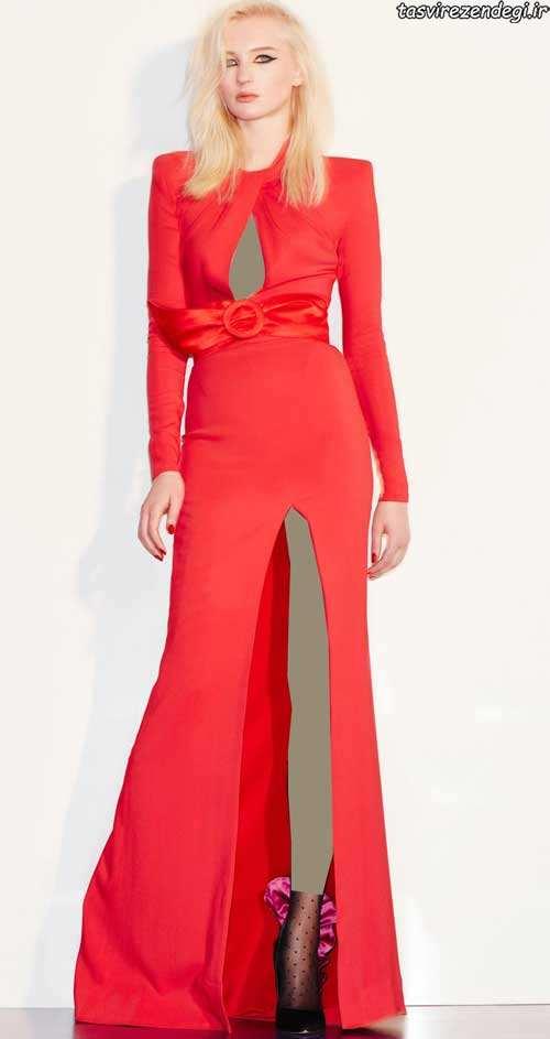 مدل لباس مجلسی قرمز, لباس شب قرمز