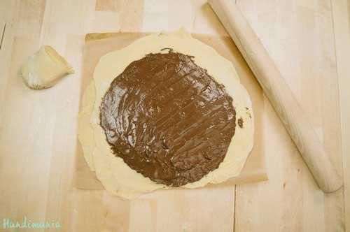 طرز تهیه نان نوتلا ستاره ای