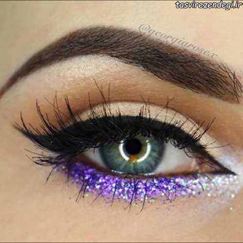 خط چشم و سایه چشم اکلیلی