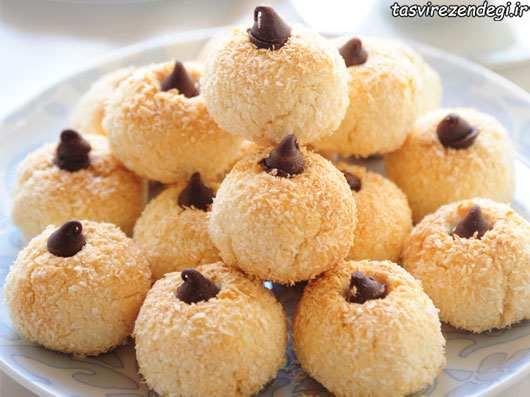 طرز تهیه شیرینی ماکارون نارگیلی