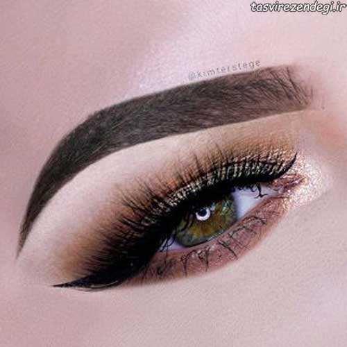 مدل آرایش چشم اروپایی
