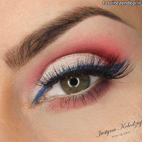 خط چشم و سایه چشم دخترانه
