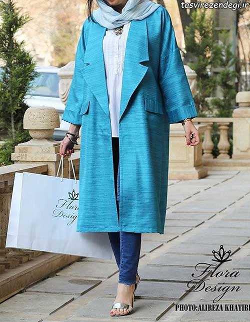 مدل مانتو بهاری جلو باز برای عید