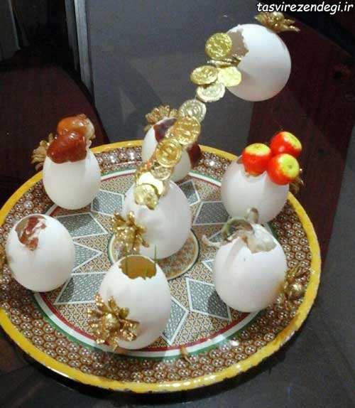 آموزش ساخت هفت سین با پوسته تخم مرغ