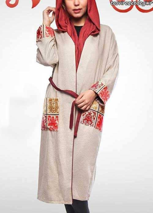 مدل مانتو عید رنگ روشن سنتی