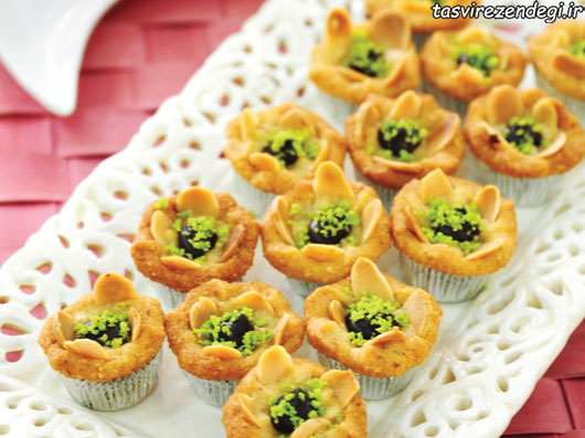 طرز تهیه رزت بادام , آموزش شیرینی پزی