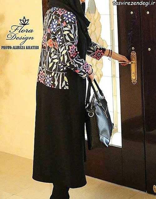مدل مانتو مجلسی مشکی بهاری برای عید