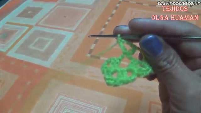 آموزش بافت شال سه گوش قلاب بافی