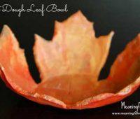آموزش ساخت ظرف هفت سین با خمیر نمکی شکل برگ پاییزی