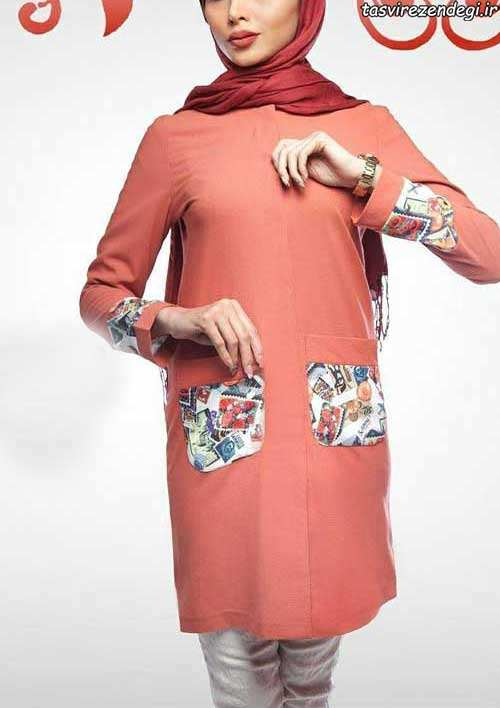 مدل مانتو عید رنگ شاد دخترانه