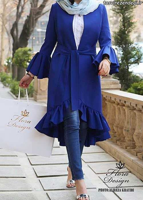 مدل مانتو بهاری , مدل مانتو بهاره برای عید 96 مزون فلورا مدلهای شیک دخترانه و زنانه 2017