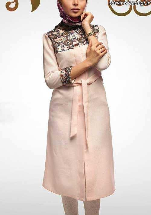 مدل مانتو عید رنگ روشن دخترانه