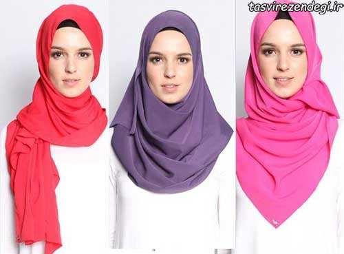آموزش بستن شال و روسری عید