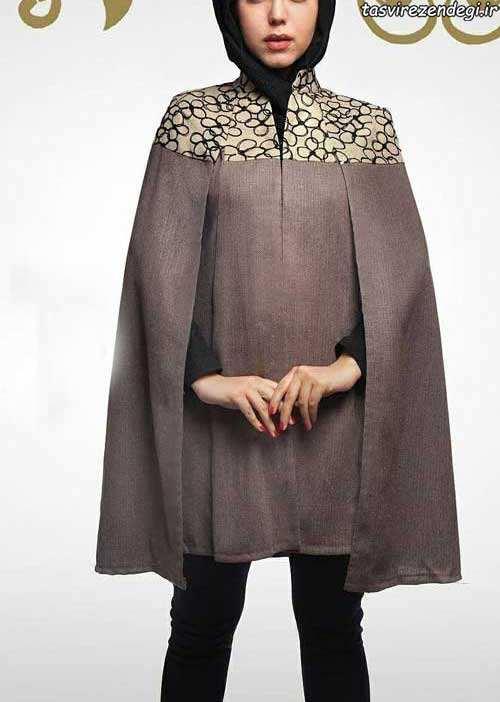 مدل مانتو بهاری شنلی
