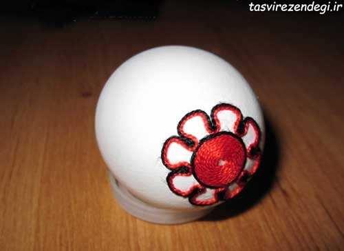 تزیین تخم مرغ با کاموا