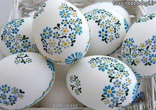 تزیین تخم مرغ با نقاشی نقطه ای