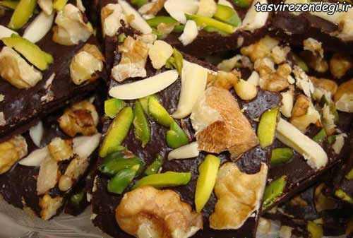 طرز تهیه شکلات موزاییکی