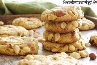طرز تهیه بیسکویت بادام زمینی عید-1